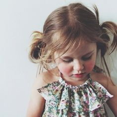 messy pigtails.