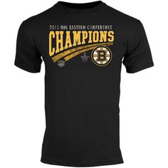 Old Time Hockey Boston Bruins 2013 NHL Eastern Conference Champions Iver T-Shirt - Black
