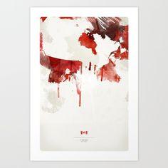 Canada Art Print by Jerod Gibson | Society6