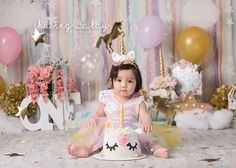 Unicorn Cake Smash Photo shoot, unicorn cake, unicorn party, unicorn party ideas, first birthday ideas, Unicorn photo shoot, unicorn photoshoot, cake smash ideas for girls, girls first birthday ideas, unicorn, unicorn love, magic, magical cake smash, magical first birthday,