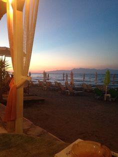 Beautiful sunset in Roda, Corfu