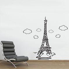 Adesivo de Parede Torre Eiffel