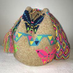 FREE US Shipping Colombian Handmade Wayuu Mochila crossbody shoulde nuanced Bag Wiggly Crochet, Tapestry Crochet Patterns, Tapestry Bag, Crochet Animals, Crochet Bags, Bag Sale, Straw Bag, Purses And Bags, Reusable Tote Bags