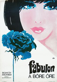 Fabulon (a famous Hungarian cosmetics brand) Retro Posters, Poster Ads, Vintage Posters, Beauty Case, Ad Art, Print Advertising, Illustrations And Posters, Travel Posters, Illustrators