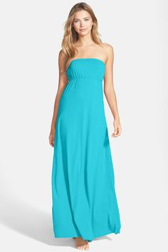 Summer! Long Strapless Dress by HARD TAIL on @nordstrom_rack