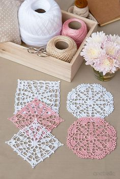 Crochet lace motifs free patterns by Anabelia Craft Design #anabelia�