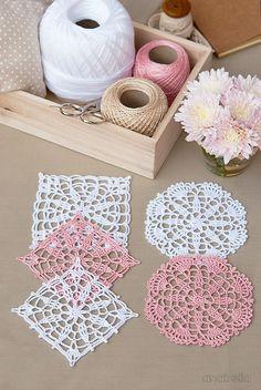 Crochet lace motifs free patterns by Anabelia Craft Design  #anabelia…
