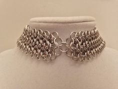 "1"" Wide Thin Aluminum Chainmail Metal Charm Choker Collar Necklace - Punk Viking Men Women Kink Fetish Post Apocalyptic Nickel Free by JohnsChainmailShop from John's Chainmail Shop. Find it now at http://ift.tt/2i3JxbI!"