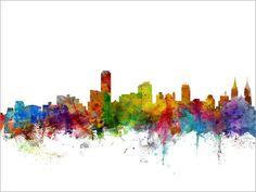 Adelaide Australia Skyline Art Print 1265 by artPause on Etsy