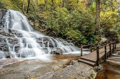 Want to see gorgeous waterfalls on a mountain hike? Gatlinburg Cabin Rentals shares the top Smoky Mountain waterfall hikes you don't want to miss! Great Smoky Mountains, Smoky Mountain Trails, Smoky Mountains Hiking, Smoky Mountain Waterfalls, Tennessee Waterfalls, Smoky Mountain National Park, Mountain Hiking, Smoky Mountains Tennessee, National Forest