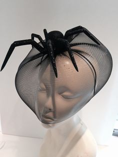 A personal favorite from my Etsy shop https://www.etsy.com/listing/250861706/spider-fascinator-halloween-black-widow