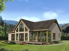 062H-0138: Vacation House Plan has Designed for a Rear View