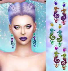 Sims 4 CC's - The Best: Seahorse Earrings by Missfortunesims