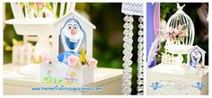 The best and most beautiful things in the world cannot be seen or even touched - they must be felt with the heart.  #olaf #partycages #partyideas #tulipsevent #partydecoration  Bookings: +92 321 4355789   www.thematicbirthdayplanner.com