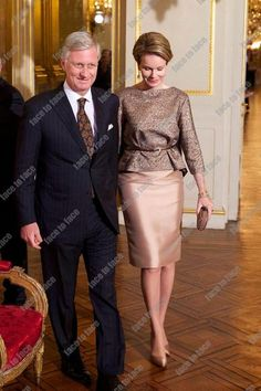 King Philippe and Queen Mathilde hosted the New Year's reception for the Diplomatic Corps at the Royal Palace of Brussels today, January 8.