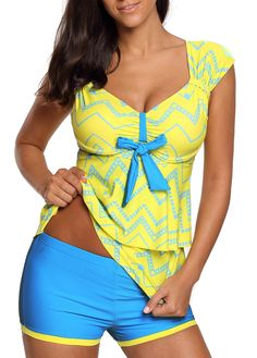 9bf2183ebb Wide Strap Layered Hem Swimwear Top and Shorts | liligal.com - USD $31.47 #  · Swim Cover UpsSwimsuit ...
