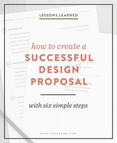 How to create a successful design proposal - Spruce Rd. How to create a successful design proposal Creative Business, Business Tips, Business Proposal Ideas, Work Proposal, Website Proposal, Online Business, Web Business, Business Motivation, Business Website