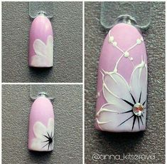 Oink And White Flower Nails Nailart & rosa und weiße blumen-nagel-kunst Oink And White Flower Nails Nailart & nail art designs Pretty. nail art designs For Winter. Gel Nail Art, Nail Art Diy, Easy Nail Art, Nail Manicure, Gel Nails, Acrylic Nails, Easy Nails, Stiletto Nails, Floral Nail Art