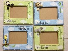 Resultado de imagen para portarretratos de madera Cute Frames, Box Frames, Frames On Wall, Picture Frames, Vbs Crafts, Clay Crafts, Diy And Crafts, Photo Projects, Projects To Try