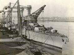 Battleship USS California (BB-44) under construction at the Mare Island Naval Shipyard, Vallejo, California, 1921.