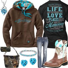 The Best Things In Life Brown Hoodie Outfit - Real Country Ladies