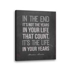 Abraham Lincoln Quote Canvas Inspirational Stretched Canvas Ready to Hang 28x22 Inches