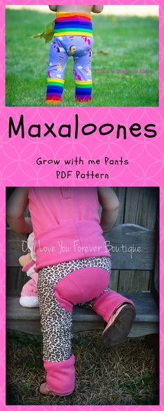 Maxaloones SEWING PATTERN PDF Nb-5T grow with me pants #maxaloones ...