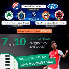 "#Tipster #apostaganha ZTIAGO está ""on fire""  e lança +3 #prognosticos para #UEFA #ChampionsLeague: ⚽ http://www.apostaganha.pt/cat/de-futebol/champions-de-futebol/ #futebol #apostas #UCL #apostasdesportivas #cskamoscou  #spartapraga  #bets #sportsbetting #apostasonline #apostasesportivas #predictions #instasoccer #instafootball #footy #football #dinamozagreb #molde #panathinaikos #clubbrugge #instabets #soccer"
