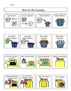 teach: daily living skills. on Pinterest   Life Skills, Special ...