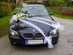 arreglos para carro de novia con tul