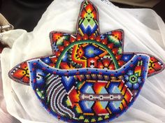 Mexican Beaded Huichol eclipse