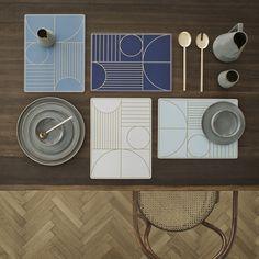 Buy Ferm Living Outline Placemat - Dusty Blue | Amara