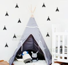 Cheap Dibujos animados tipi Wall Stickers Wall decals, extraíble de habitaciones niño decoración arte de la pared decoraciones caseras envío gratis, Compro Calidad Pegatinas de Pared directamente de los surtidores de China:                                    Forma simple pegatinas de pared