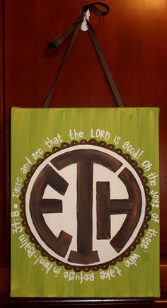 Cute monogrammed canvas