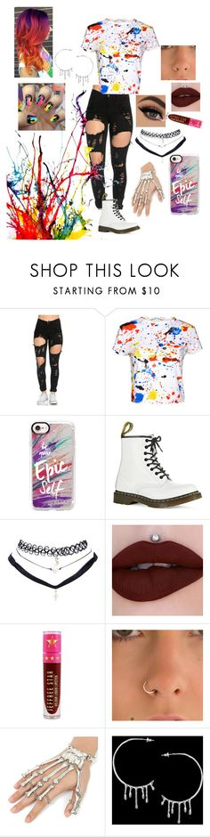 """Paint Your Story"" by emo-roxanne ❤ liked on Polyvore featuring Alice + Olivia, Casetify, Dr. Martens, Wet Seal, Jeffree Star and Annika Burman"