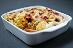 Spaghetti Squash Gratin with Walnuts and Bacon