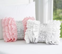 Find kids pillows in cute designs at Pottery Barn Kids. Shop kids throw pillows that will add style and personality to the playroom. Bow Pillows, Cute Pillows, Sewing Pillows, Kids Pillows, Throw Pillow, Decoration Shabby, Pillow Crafts, Cushion Cover Designs, Quilt Modernen