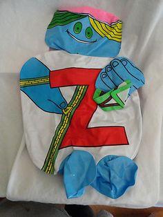 ORIGINAL LETTER PEOPLE Abrams Reading Letter Z Huggable Inflatable Mr Z 1971   eBay