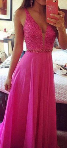 Prom Dress,beaded Prom Dress, Fuchs