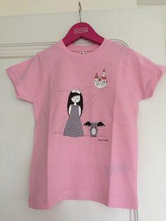 Un favorito personal de mi tienda Etsy https://www.etsy.com/es/listing/280414348/camiseta-princesa-nina-algodon