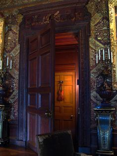 The Violin Door at Chatsworth Chatsworth House is a stately home in North Derbyshire, England