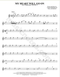 """Flute sheet music for titanic theme """"my heart will go on"""" makes me want to cry"""