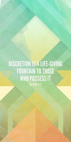 Proverbs 16:22.