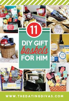 Gift basket ideas for the hubby or boyfriend- these are GREAT!