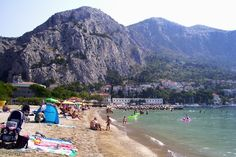 the beach of Omiš