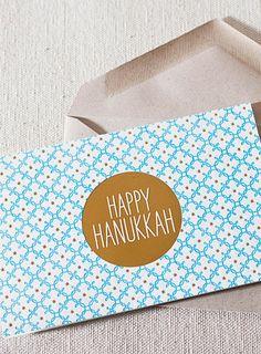 Happy Hanukkah letterpress cards (with gold foil) from @smockpaper