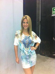 Tamara Gorro, guapísima como siempre en QTTF Shirt Dress, T Shirt, Bodycon Dress, Formal Dresses, Fashion, Clothes Shops, Caps Hats, Shirtdress, Tee