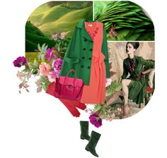 """""""Watermelon + Green"""" by ladysnape ❤ liked on Polyvore"""