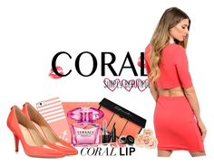 """""""Coral Simply Beautiful"""" by sweetcheeksgurl8 ❤ liked on Polyvore featuring schoonheid, Casetify, MICHAEL Michael Kors, Anna Sui, Bobbi Brown Cosmetics, MAC Cosmetics, Versace, Gucci en Summer"""