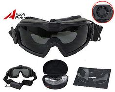 Paintball Tactical Regulator Goggles w/Fan Military Anti-fog Dust Safety Glasses
